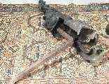 Coppia di alari da camino in bronzo del XIX secolo-5