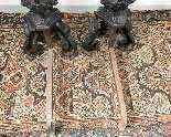 Coppia di alari da camino in bronzo del XIX secolo-14