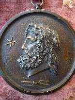 4 antiche medaglie in bronzo -7