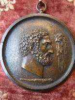4 antiche medaglie in bronzo -9