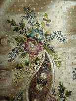 Vest di Uomini, seta ricamata, fine del 18 ° secolo-0