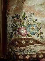 Vest di Uomini, seta ricamata, fine del 18 ° secolo-4