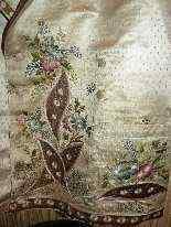 Vest di Uomini, seta ricamata, fine del 18 ° secolo-3