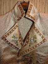 Vest di Uomini, seta ricamata, fine del 18 ° secolo-8