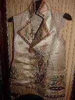 Vest di Uomini, seta ricamata, fine del 18 ° secolo-13