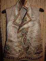 Vest di Uomini, seta ricamata, fine del 18 ° secolo-14