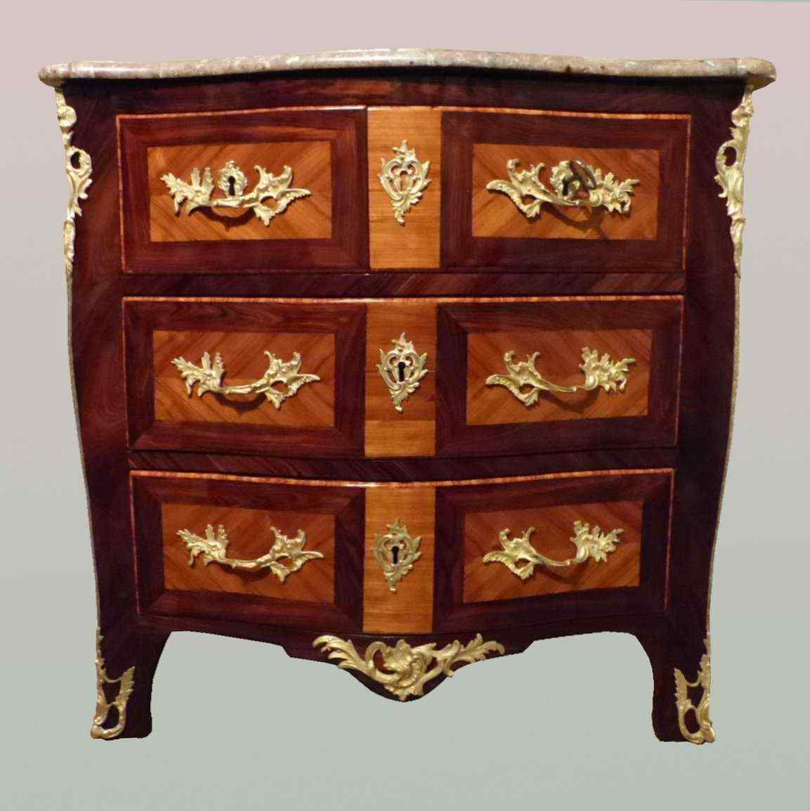 Marquetery commode timbrato JC ELLAUME