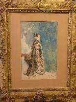 Ritratto di Sarah Bernhardt di Attilio Simonetti, acquarello-8