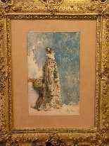Ritratto di Sarah Bernhardt di Attilio Simonetti, acquarello-7