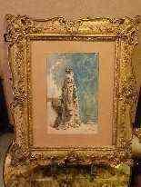 Ritratto di Sarah Bernhardt di Attilio Simonetti, acquarello-11