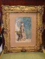 Ritratto di Sarah Bernhardt di Attilio Simonetti, acquarello-6