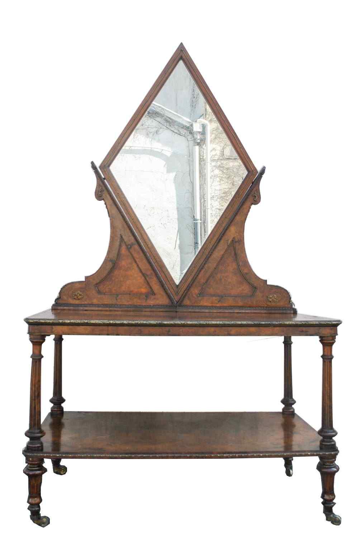 English Center Dressing Table, 19th Century