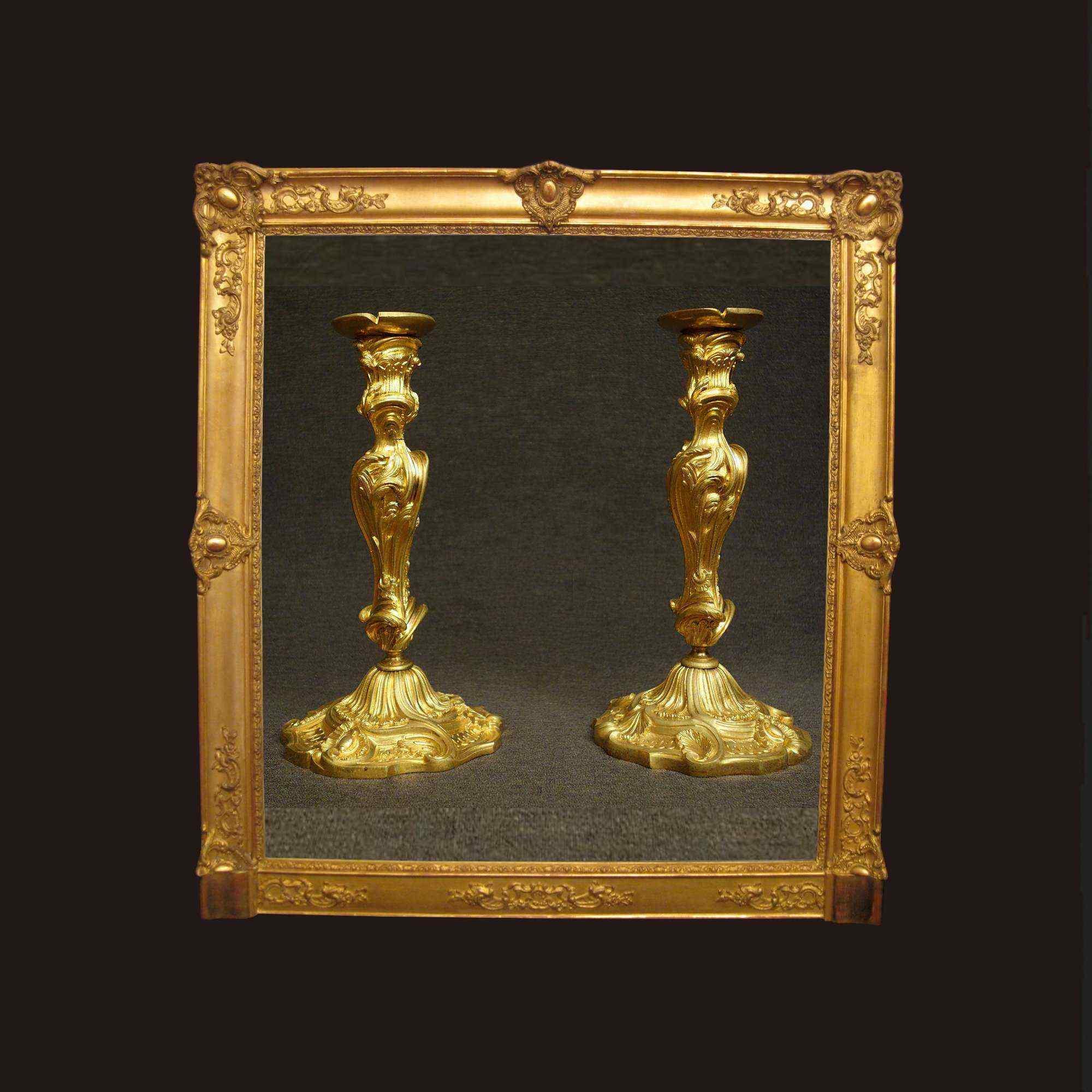 Raro paio di torcieri stampigliati Picard, XIX secolo