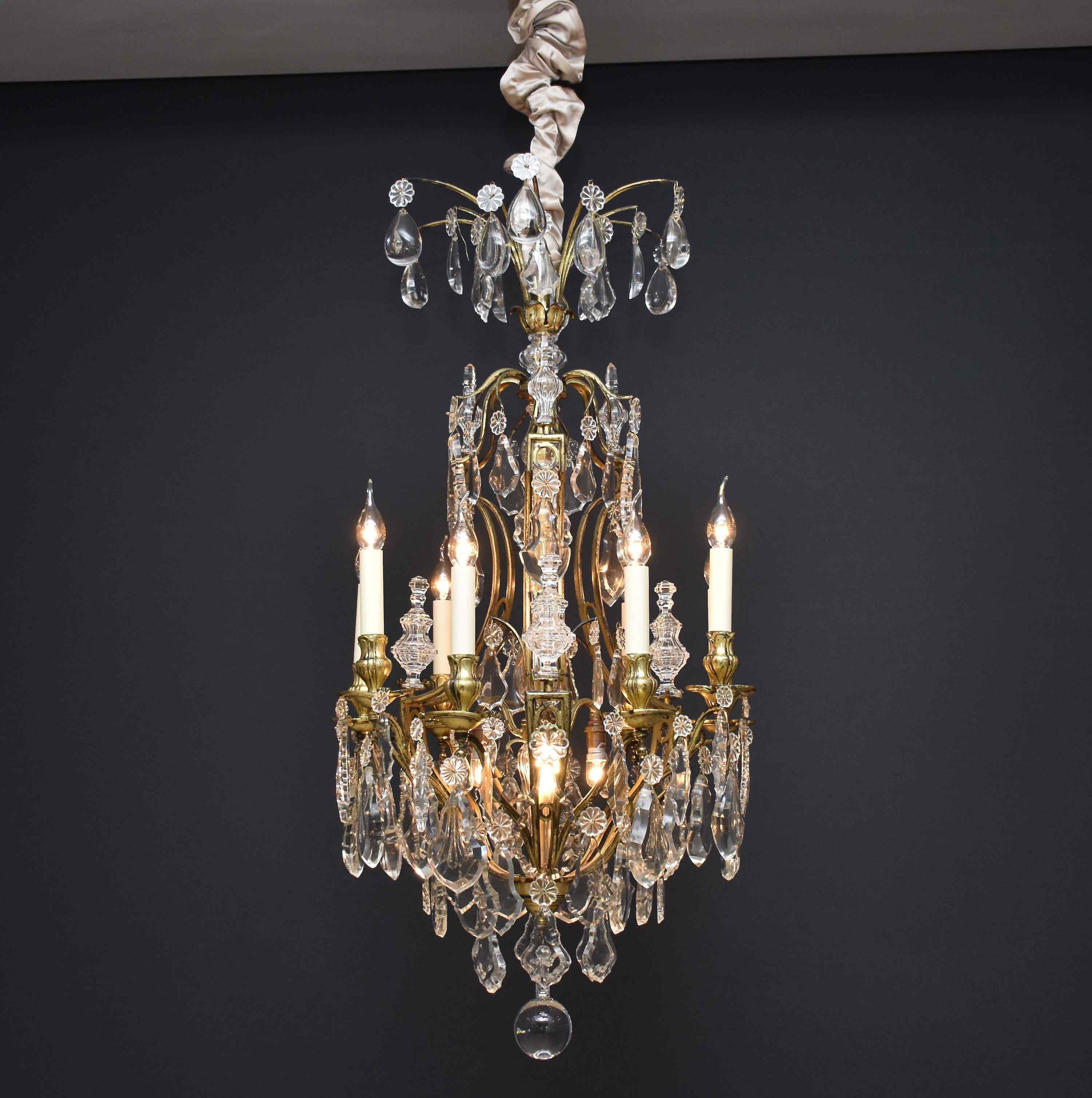 Lampadario in bronzo dorato 'Versailles'