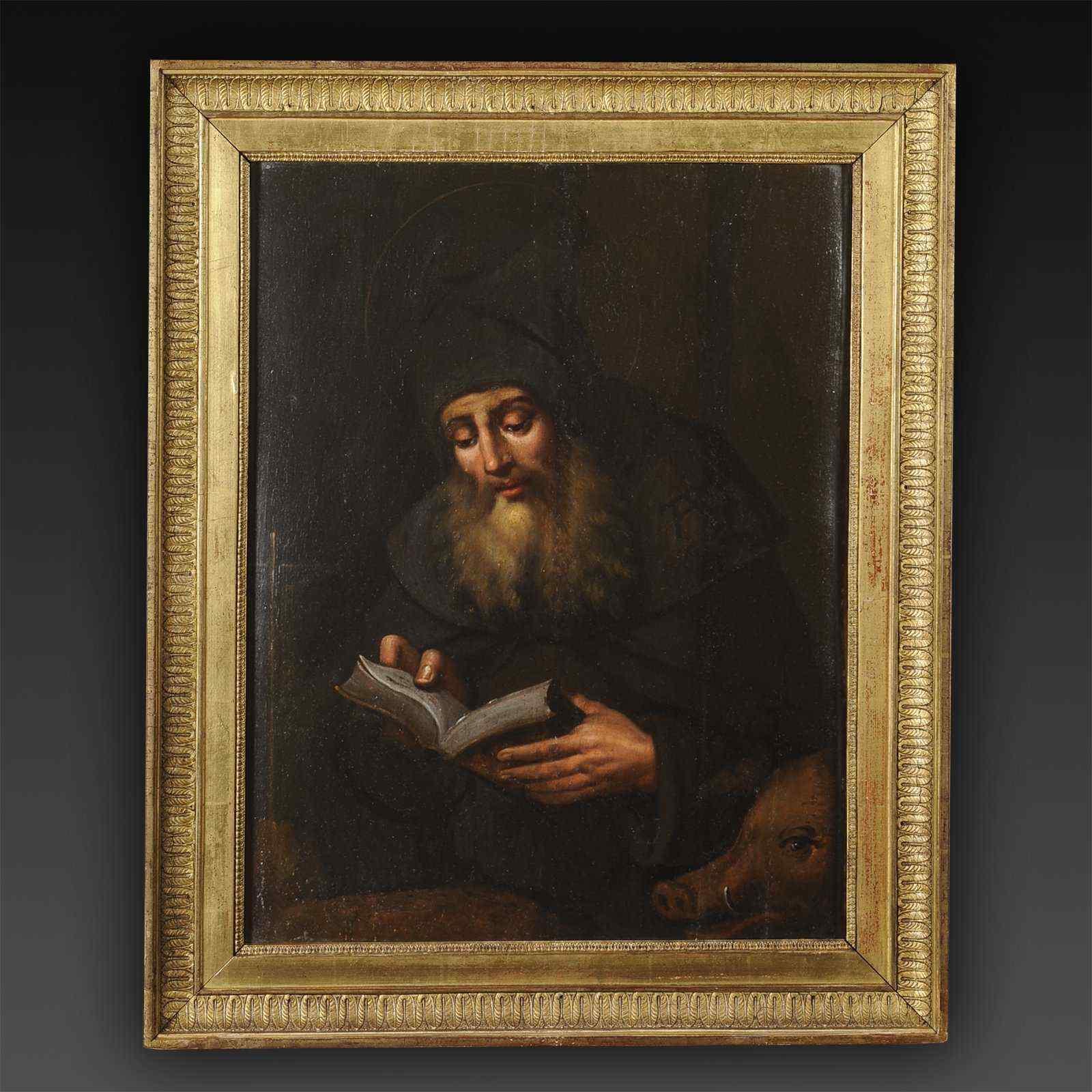 Portrait de Saint Antoine le Grand - Ecole française XVIIe