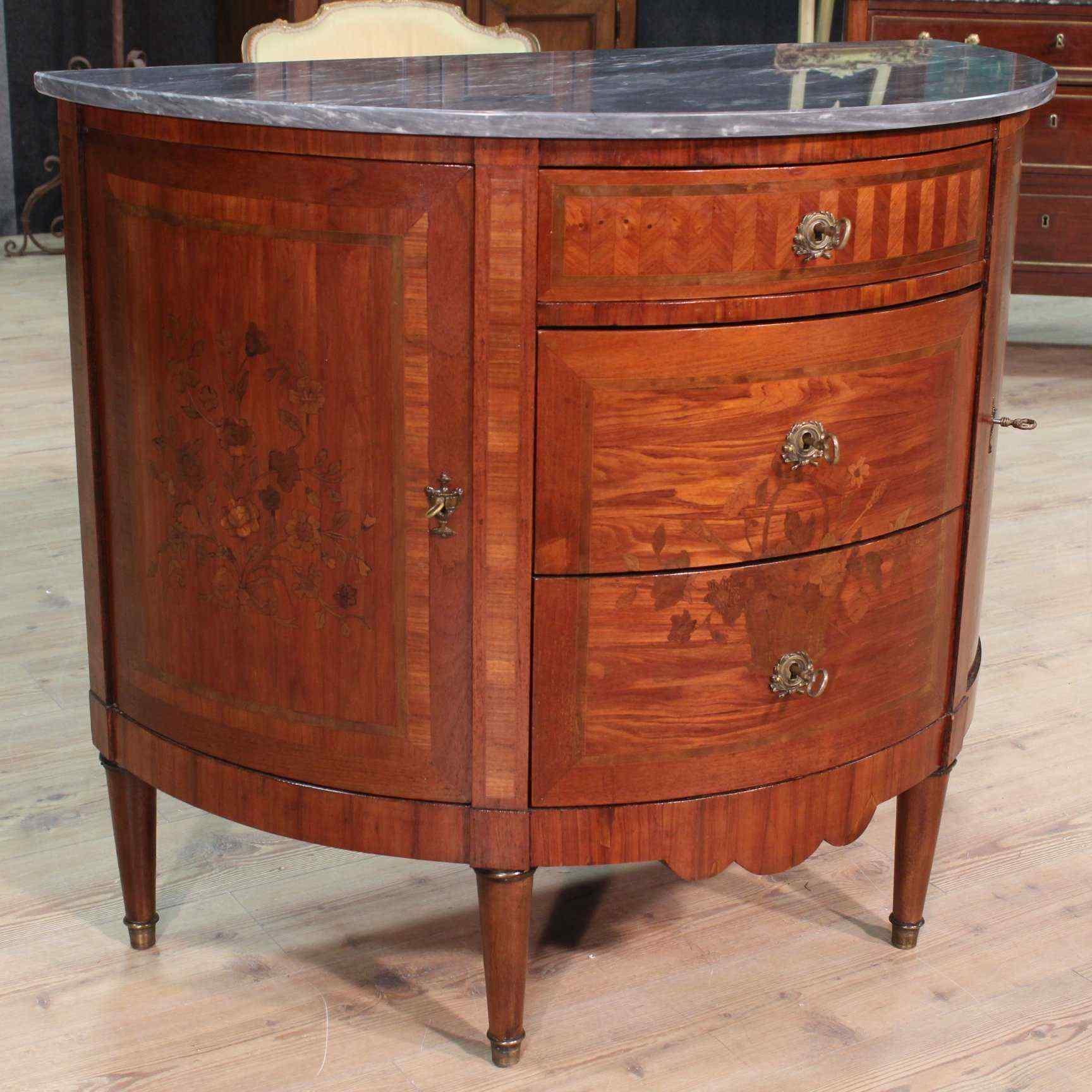 Dresser commode demi-lune, France, XIX century