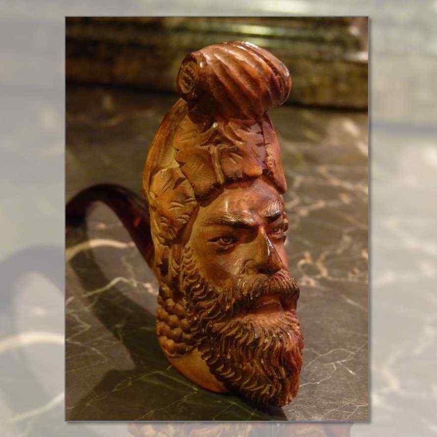 pipa di schiuma, testa orientalista, periodo di Napoleone II