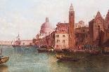 Coppia antica Dipinti ad olio Venezia Alfred Pollentine XIX -2