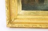 Coppia antica Dipinti ad olio Venezia Alfred Pollentine XIX -17