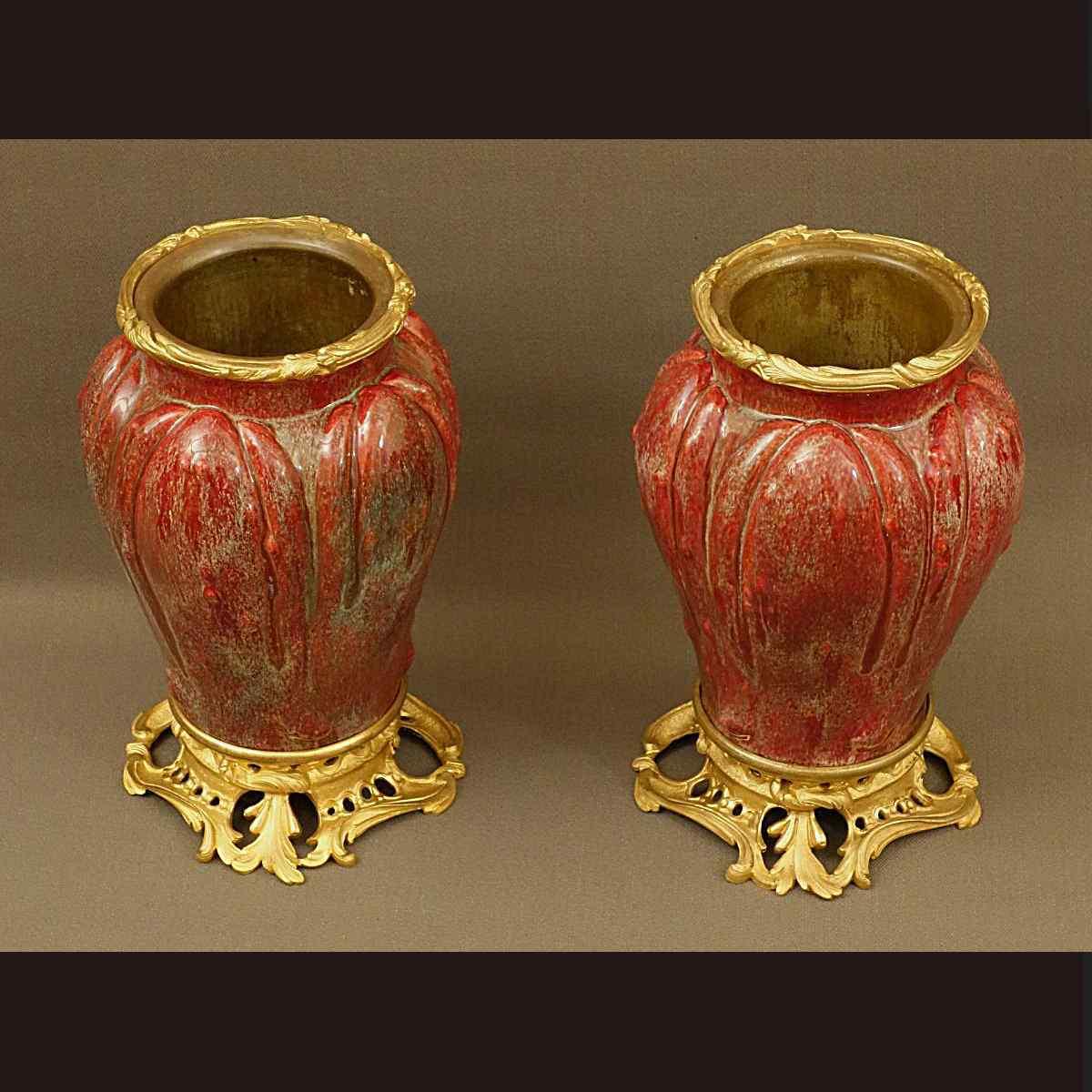 Coppia di Vasi in porcellana, XIX secolo