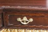 Coppia di tavolini dorati antichi in mogano del 1800-13
