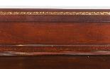 Coppia di tavolini dorati antichi in mogano del 1800-5