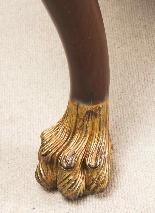 Coppia di tavolini dorati antichi in mogano del 1800-10