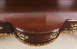 Coppia di tavolini dorati antichi in mogano del 1800-7