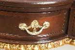 Coppia di tavolini dorati antichi in mogano del 1800-12