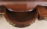 Coppia di tavolini dorati antichi in mogano del 1800-15