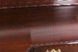 Coppia di tavolini dorati antichi in mogano del 1800-4
