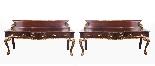 Coppia di tavolini dorati antichi in mogano del 1800-1