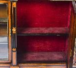 Antique Burr Walnut vittoriano Credenza Sevres Plaques 19th -17