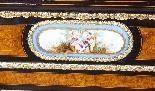 Antique Burr Walnut vittoriano Credenza Sevres Plaques 19th -3