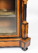 Antique Burr Walnut vittoriano Credenza Sevres Plaques 19th -12