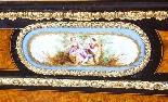 Antique Burr Walnut vittoriano Credenza Sevres Plaques 19th -8