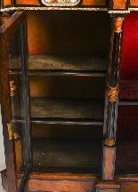 Antique Burr Walnut vittoriano Credenza Sevres Plaques 19th -18