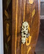 Antique Dutch Marquetry Walnut Cabinet on Chest c.1780-5