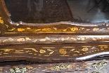 Antique Dutch Marquetry Walnut Cabinet on Chest c.1780-7
