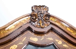 Antique Dutch Marquetry Walnut Cabinet on Chest c.1780-3