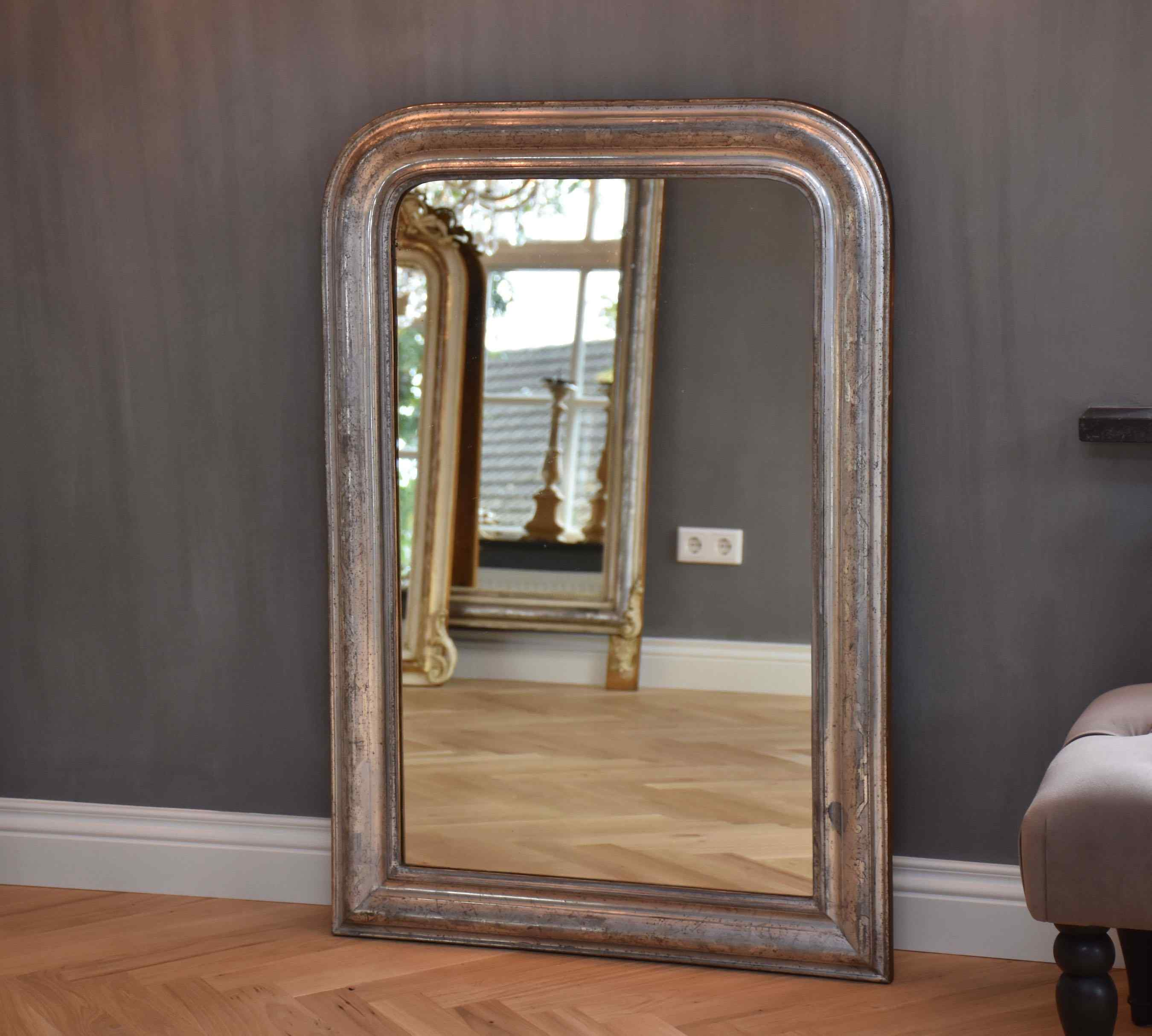 Specchio francese antico del XIX secolo Luigi Filippo
