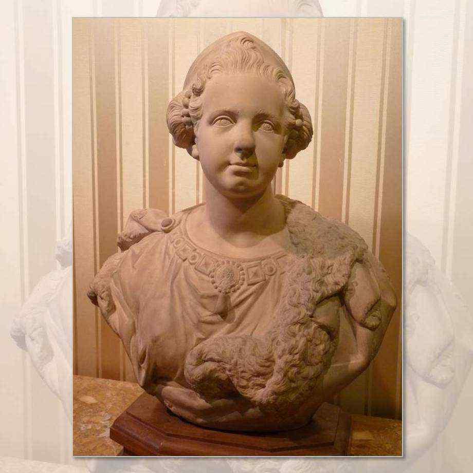 Busto raffigurante la regina Marie Leczinska, XIX secolo