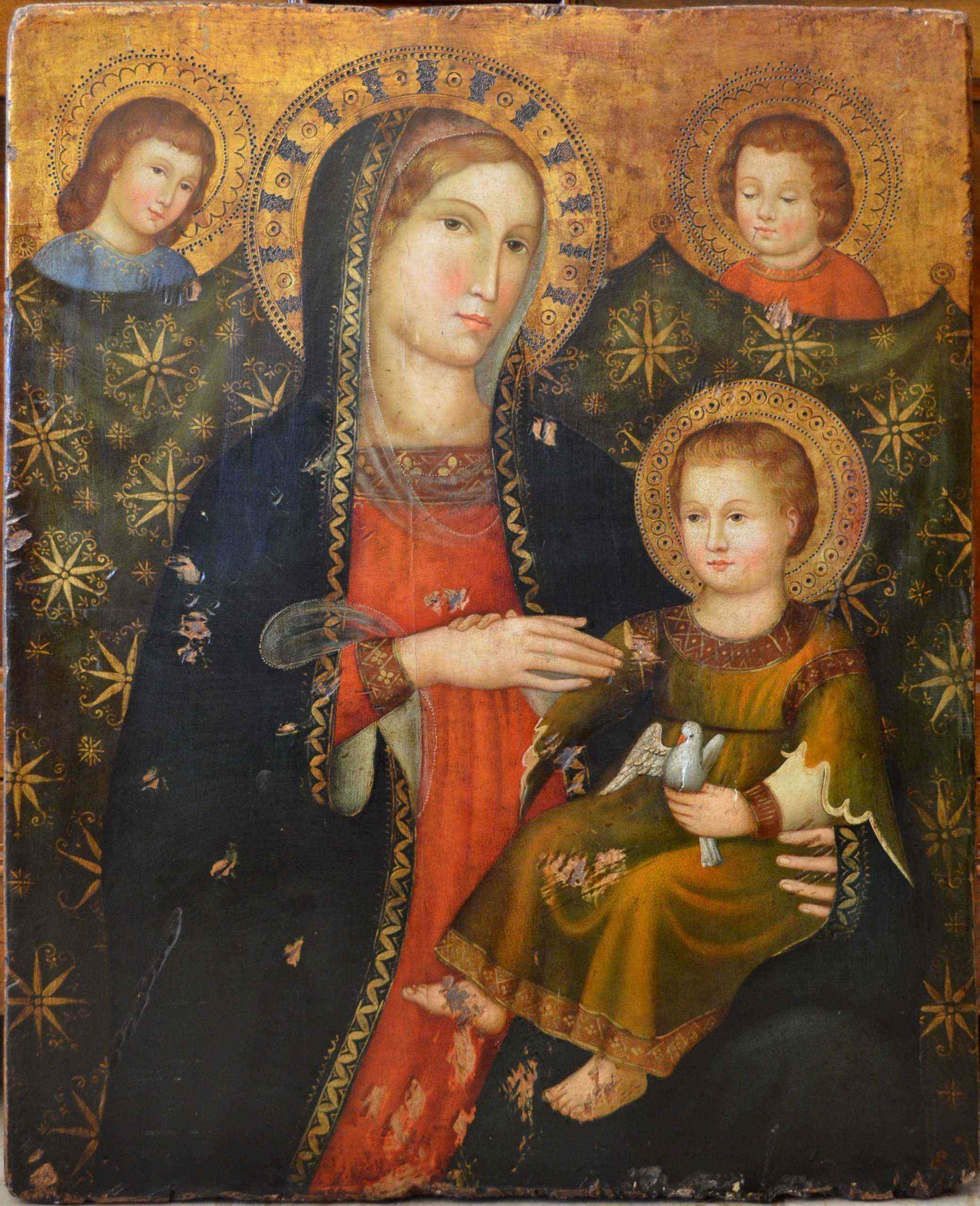 Madonna and Child with Angels, Sienese school, XIXth Century