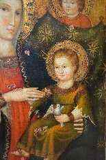 Madonna and Child with Angels, Sienese school, XIXth Century-6