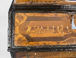Antique Italian Renaissance Revival Marquetry Bureau 18th C-5