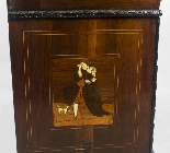 Antique Italian Renaissance Revival Marquetry Bureau 18th C-17