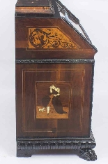 Antique Italian Renaissance Revival Marquetry Bureau 18th C-15