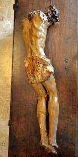 Christ crucified, polychrome wooden sculpture, XVI century-1