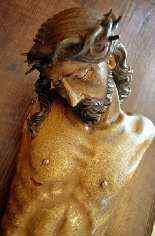 Christ crucified, polychrome wooden sculpture, XVI century-2