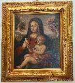 Madonna con Bambino, scuola bolognese, olio su tavola-4